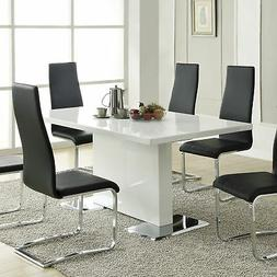Coaster Furniture 102310 Dining Table Glossy White NEW
