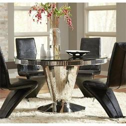 Coaster Home Furnishings 105061 Dining Table Stainless Steel