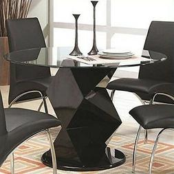 Coaster Furniture 120800 Dining Table Glossy Black NEW