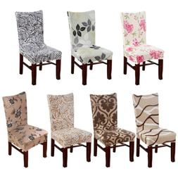 2/4/6/8pcs Spandex Stretch Dining Chair Seat Covers Wedding