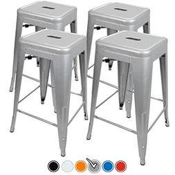 UrbanMod 24 Height 330lb Capacity Gray Kitchen Counter Chair
