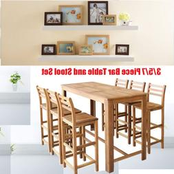 3 5 7 Piece Dining set Breakfast Chair Bar Table and Stool S