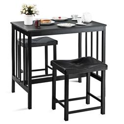 3 PCS Modern Counter Height Dining Set Table And 2 Chairs Ki