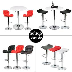 3 Piece Bar Table Dining Set 2 Bar Stools Counter Adjustable