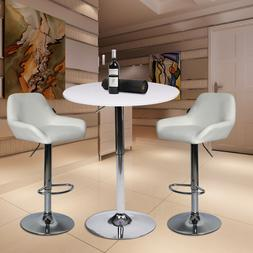 3 Piece Bar Table Set Bar Stools Dining Chairs Bistro Counte