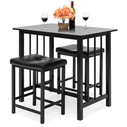 3-Piece Counter Height Dining Table Set w/ 2 Stools, Space-S