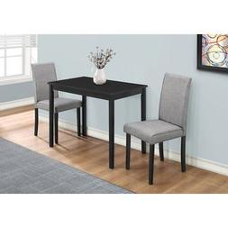 Monarch Specialties 3 Piece Dining Table Set - Fabric