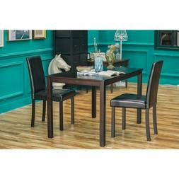 3 Piece Dining Table Set Tables and Chairs Wood Rectangle Ki