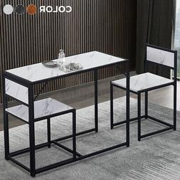 3 Piece Dining Table Set W/2 Chairs Wooden Kitchen Breakfast