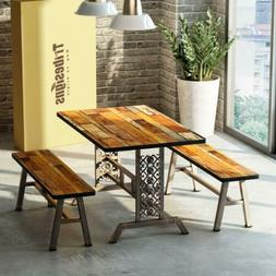 3 pieces dining table set with 2
