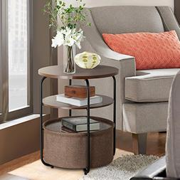 Lifewit 3-tier Round Medium Side Table End Table Nightstand