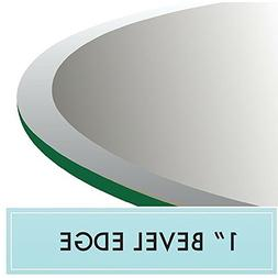 """42"""" Round Clear Tempered Glass Table Top 1/2"""" Thick 1"""" Bevel"""