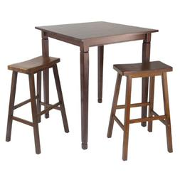 3pc Kingsgate High/Pub Dining Table with Saddle Stool