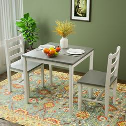 3PCS Dining Table Set 2 Chairs Kitchen Dining Room Furniture