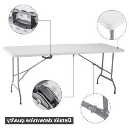 4/6FT Portable Plastic Folding Picnic Table Outdoor Wedding