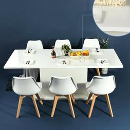 4-8 Seaters Extending Dining Table Modern Kitchen Wooden Tab