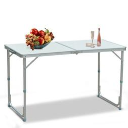 4' Folding Table Portable Indoor Outdoor Picnic Party Dining