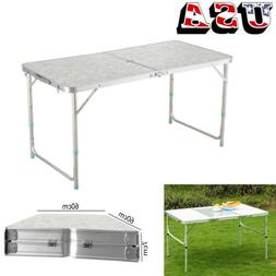 4' Folding Table Portable Plastic Indoor Outdoor Picnic Part