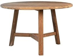"""47"""" W Adelfo Outdoor Dining Table Reclaimed Solid Teak Wood"""