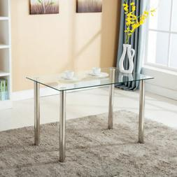 "47""x28""Modern Rectangular Glass Dining Table Kitchen Dining"