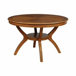 """48"""" Round Dining Table with Bottom Shelf Round Top Dining Ta"""
