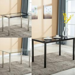 48 x28 glass dining table w metal
