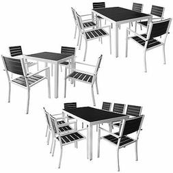 vidaXL 5/7/9 Piece Outdoor Dining Set Aluminum WPC Patio Gar