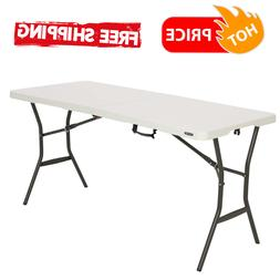 5 Ft Folding Table Camping Party Dining Picnic Portable Carr