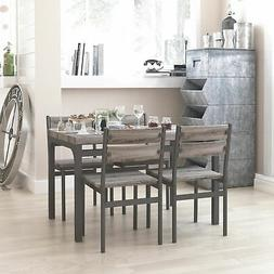 dining set rustic grey wooden