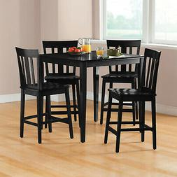 5 Piece Dining Set Square Table Mission Counter-Height Durab