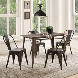 5 Piece Dining Set Table Chairs Set Living Room Kitchen Outd