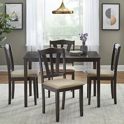 5 Piece Dining Set Wood Breakfast Furniture 4 Chairs and Tab