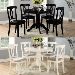 5 Piece Dining Set Wood Table W/ 4 Chairs Dinette Home Kitch