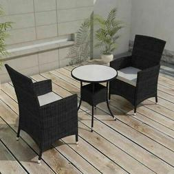5 Piece Garden Outdoor Patio Dining Set Table Cushioned Chai