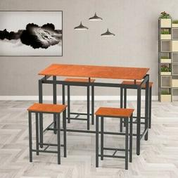 5-piece Modern industrial dining table set, Dining room,Home