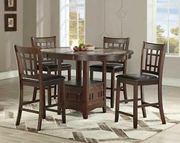 5-Piece Wood Counter Height Dining Room/ Kitchen Set, 1 tabl