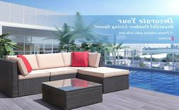 5 Pieces Patio Furniture Sets All-Weather Outdoor Sectional