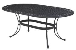 Home Style 5554-33 Biscayne Oval Outdoor Dining Table, Black
