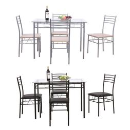5PC Dining Table Set Modern Kitchen Room Furniture with 4 Ch