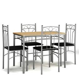 5 Piece Dining Set Table & 4 Chairs Kitchen Breakfast Furnit