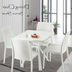 5pcs Dining Set white Table and 4 Chairs Kitchen Dining Room