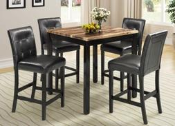 5PCS Dining Sets Counter Height Home Square Dining Table w/4