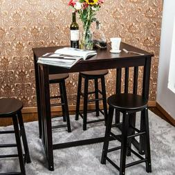 5PCS Dining Table Set Table Set with 4 Bar Stools  for Kitch