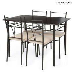 5pcs modern dining table with 4 chairs