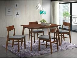 5pcs wooden dining table set 4 chair