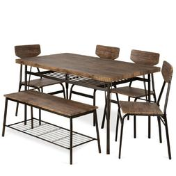 Best Choice Products 6-Piece 55in Modern Home Dining Set w/