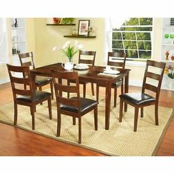 NH Designs 61162 7 Piece Solid Wood Dining Set