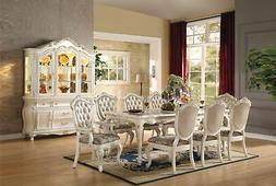 Acme Furniture 63540 Chantelle Dining Table, Marble & Pearl