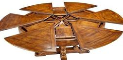 """64""""-84"""" W Selene Extendable Dining Table Country Classic Tre"""
