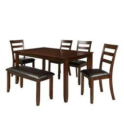 6PCS Dining Sets Square Dining Table with 4 Chairs Table and